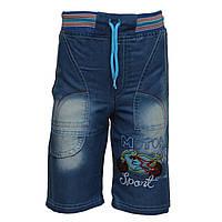 Шорты джинсовые с мотоциклом на мальчика, от 2 до 4 лет, Турция  4 года