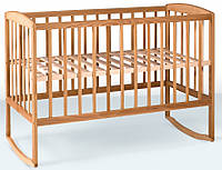 Детская кроватка Гойдалка с дугами (натуральный)