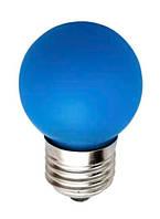 Светодиодная лампа Feron 1W Е27 синий