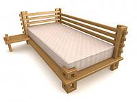 Кровать деревянная Велес-12 дуб (Пурий мастер /Украина)