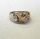 Перстень  женскийсеребряный Горный орел КЦ-31 Б, фото 3