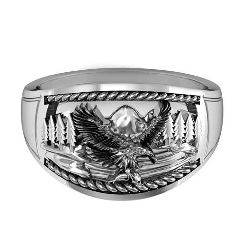 Перстень  женскийсеребряный Горный орел КЦ-31 Б