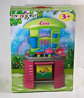 Детская кухня eva с посудой kinderway чайник сковорода kw-04-405