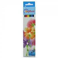Карандаши цветные 6 цветов Цветы  5-201/3  БАРВИНОК
