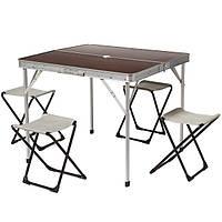 Набор туристической мебели (стол и стулья раскладные)