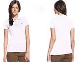 LACOSTE 5 пуговиц женская футболка поло лакоста лакосте лакост, фото 9
