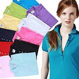 LACOSTE 5 пуговиц женская футболка поло лакоста лакосте лакост, фото 2