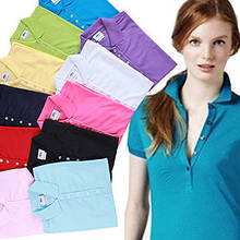 LACOSTE 5 пуговиц женская футболка поло лакоста жіноча