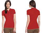 LACOSTE 5 пуговиц женская футболка поло лакоста лакосте лакост, фото 10