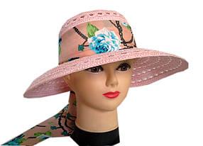 Шляпа капор с лентой