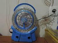 Вентилятор настольный аккумуляторный с LED-светильником и USB