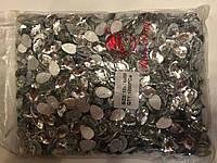 Камни клеевые овал, цвет белый , 10*14 мм, 1000шт в упаковке