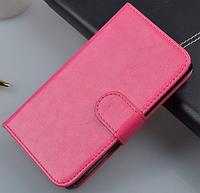Кожаный чехол-книжка для Lenovo A916 розовый