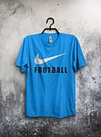 Стильная мужская футболка Nike Football синяя