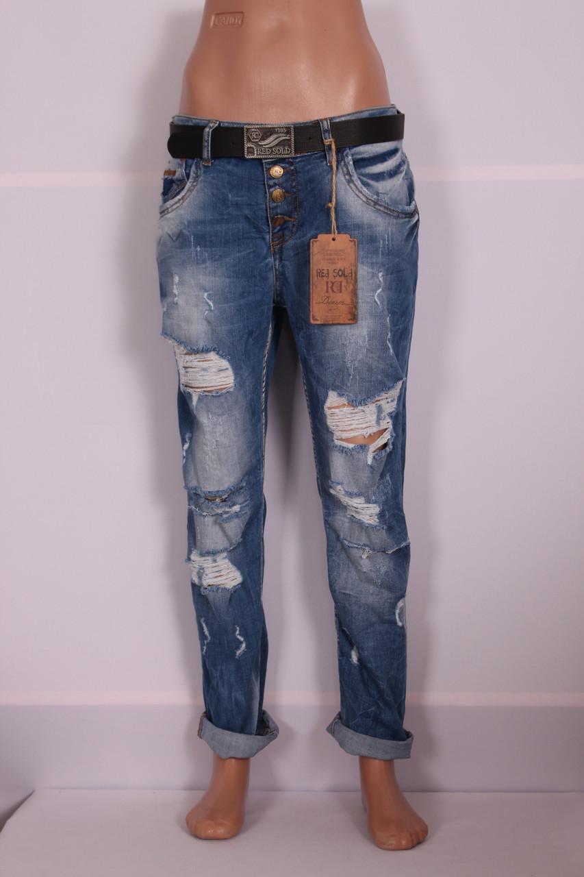 """Жіночі джинси бойфренди """"Red Sold"""" великого розміру 29-33"""