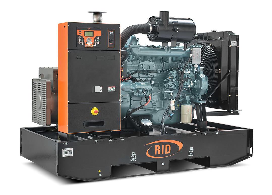 Трехфазный дизельный генератор RID 130 B-SERIES  (100 кВт) открытый + автозапуск, фото 1