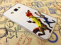 TPU чехол для Samsung Galaxy A3 A300 Джуди и Ник