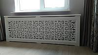 Дерев'яний декоративний екран на чавунну батарею опалення №17В, фото 1