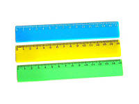 Линейка пластиковая 15 см не прозрачная бирюзовая ЛЦ-150нб  Спектр