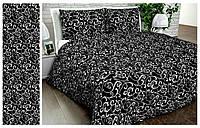 Постільна білизна двоспальне GOLD - чорний вензель