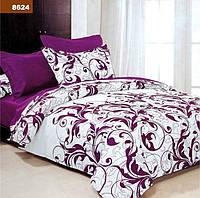Постільна білизна двоспальне GOLD - фіолетові завитки