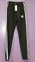 Мужские спортивные штаны adidas с лампасами (утепленные)