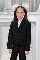 Пиджак школьный на девочку, воротник-шалька