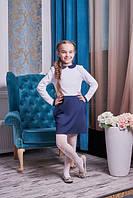 Шкільний сукню з комірцем і кишенями