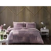 Постельное белье TAC сатин Digital - Lace фиолетовое евро