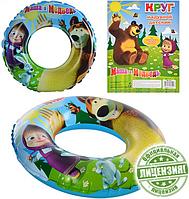 """Детский надувной круг MM 0043 """"Маша и Медведь"""""""