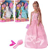 Кукла DEFA 8063 (36шт) 29,5см, аксессуары, 3 цвета, в кор-ке, 32,5-22-5,5см