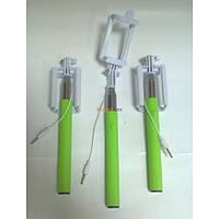 Монопод для селфи Z07-6S со шнуром NEW Зеленый