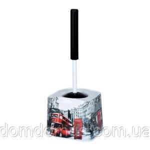 """Комплект для туалета (ершик с подставкой)  """"London"""", Elif Plastik, Турция"""