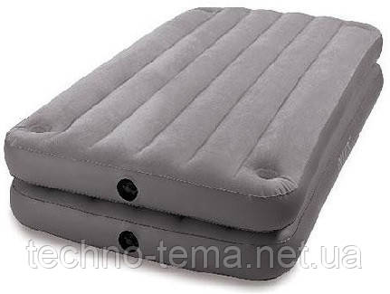 Надувная велюр-кровать Intex 191х99х46 см (67743)
