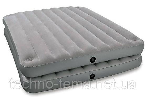 Надувная велюр-кровать Intex 203х152х46 см  (67744)