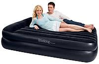Надувная велюр-кровать BestWay с электронасосом 203х163х48 см (67345)