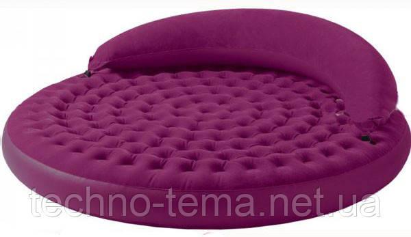 Надувная велюр-кровать Intex  Лонжа со съемным изголовьем 191х191х53 см (68881)