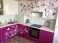 Фасады кухонные вензель, бабочки, фото 1