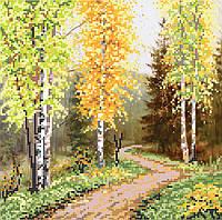 """Схема для вышивки бисером """"Осень в горах"""""""