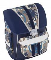 """Школьный суперкаркасный ранец с липучками для мальчика 6+ CFS 14,5"""", """"Animals"""" 720 CF85439 синий"""