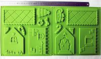 Форма силиконовая Пряничный домик (2листа), фото 1