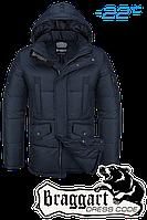 Куртка зимняя мужская Braggart Dress Code - 4260A темно-синяя