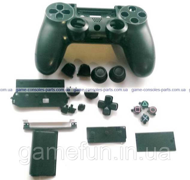 Корпус джойстика PS4 Dualshock 4 JDM-001 в сборе (Чёрный) (Премиум)