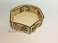Деревянная вазочка конфетница, фото 1