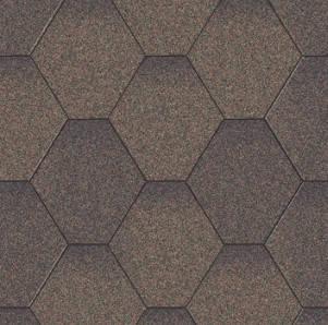 Плитка коньково-карнизная для битумной черепицы Акваизол (коричневая микс)