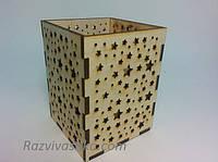 Деревянный стаканчик для карандашей, ручек., фото 1