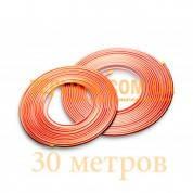 Медная труба для кондиционерной техники АЗЦМ (Украина) д. 9,53 мм, цена за бухту(30 метров).