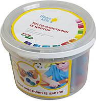 Набор для лепки Genio Kids Тесто-пластилин 15 цветов (TA1066)