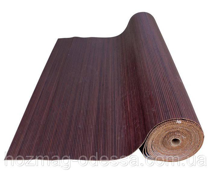 Бамбуковые обои венге 12 мм, ширина 250см.