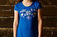 Сукня дитяча Лісова пісня голуба на синьому – короткий рукав, фото 2